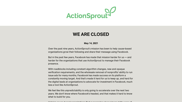ActionSprout API koppeling
