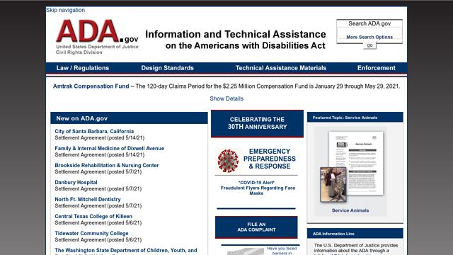 ADA.gov-homepage API koppeling
