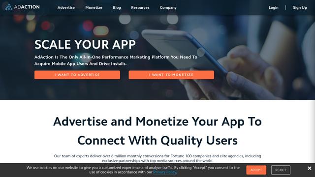AdAction-Interactive API koppeling