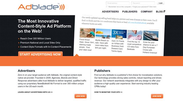 Adblade API koppeling