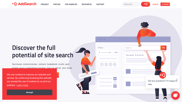 AddSearch API koppeling