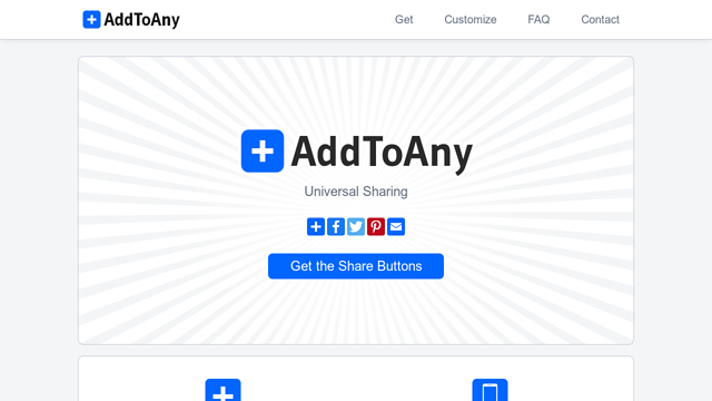 AddToAny API koppeling