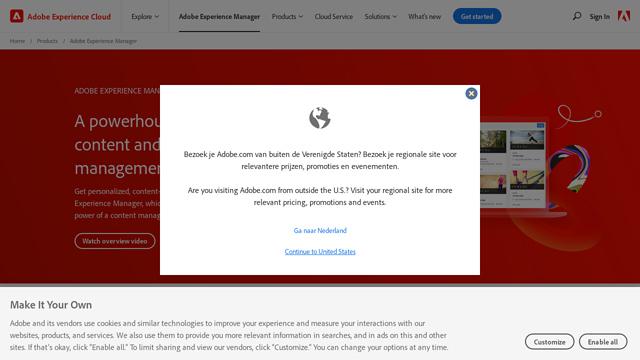 Adobe-Experience-Manager API koppeling
