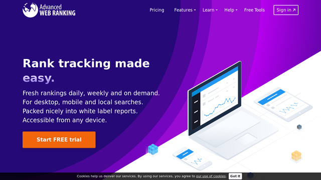 Advanced-Web-Ranking API koppeling
