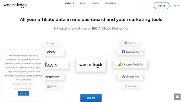 Affiliate-Sales-in-Google-Analytics---WeCanTrack-(Free-Trial) API koppeling