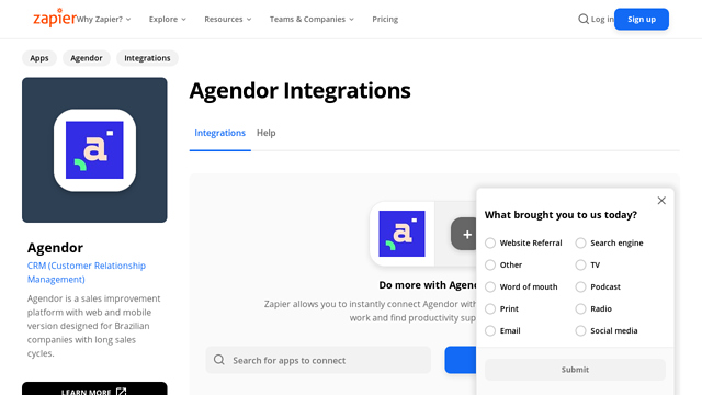 Agendor API koppeling