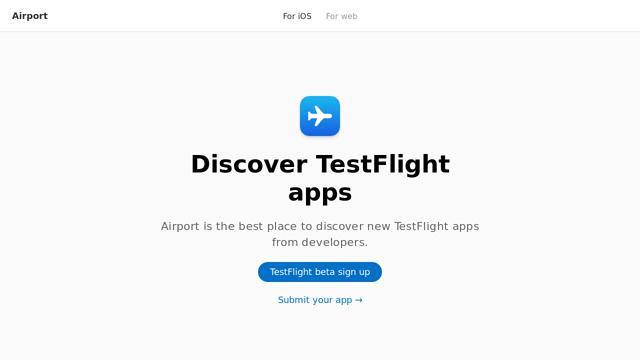 Airport API koppeling