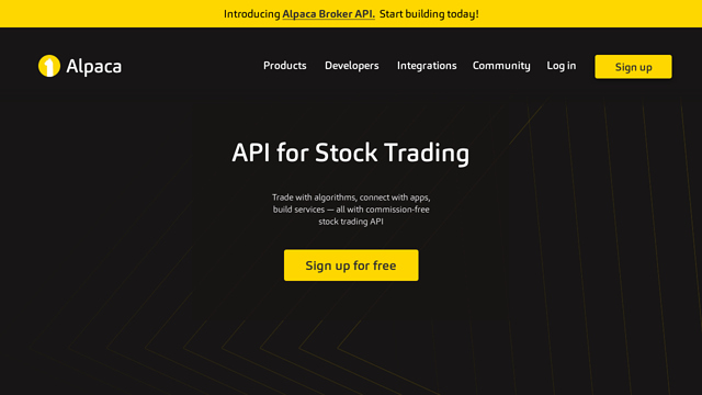 Alpaca API koppeling