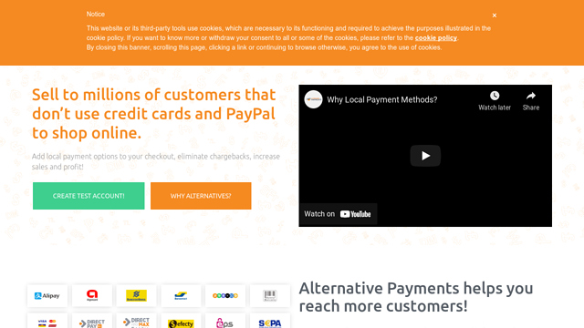 Alternative-Payments API koppeling