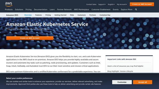 Amazon-EKS API koppeling