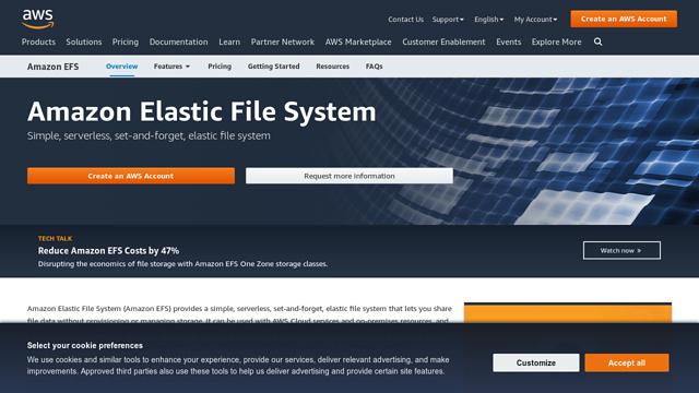Amazon-Elastic-File-System API koppeling