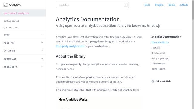 Analytics-Library API koppeling