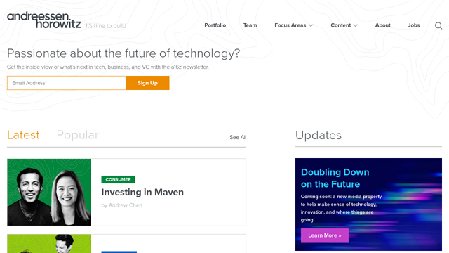 Andreessen-Horowitz API koppeling