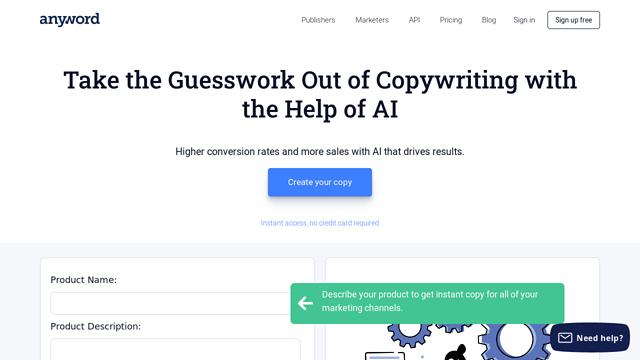Anyword API koppeling
