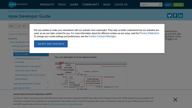 Apex-Salesforce API koppeling