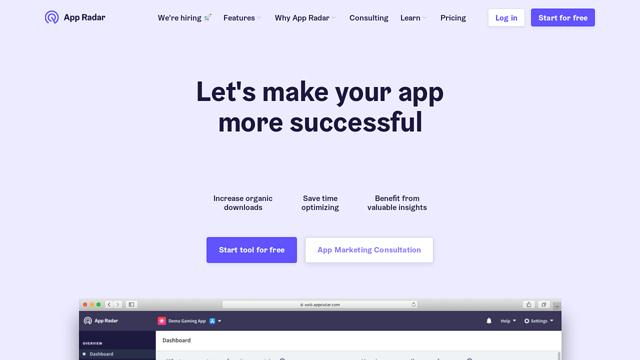 App-Radar API koppeling