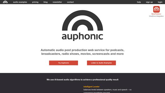 Auphonic API koppeling