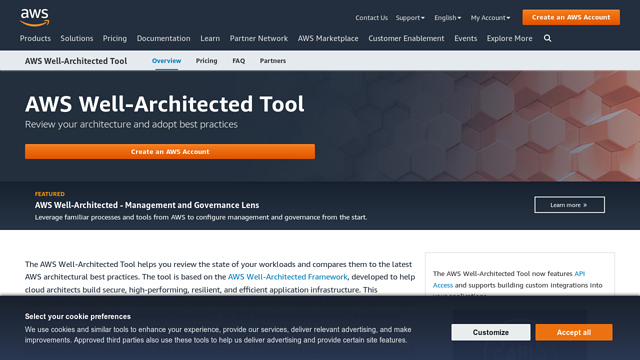 AWS-Well-Architected API koppeling
