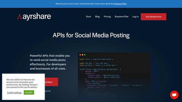 Ayrshare API koppeling