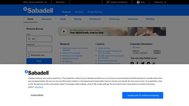 Banco-Sabadell API koppeling
