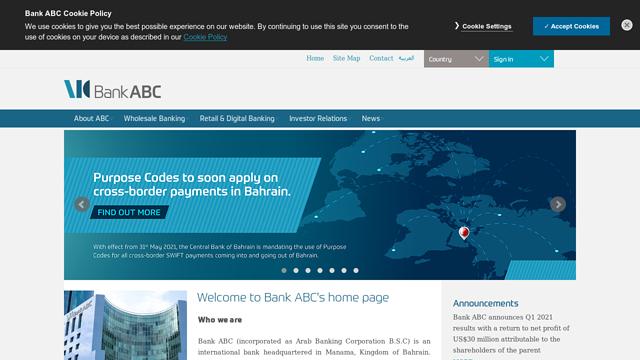 Bank-ABC-(Arab-Banking-Corporation) API koppeling