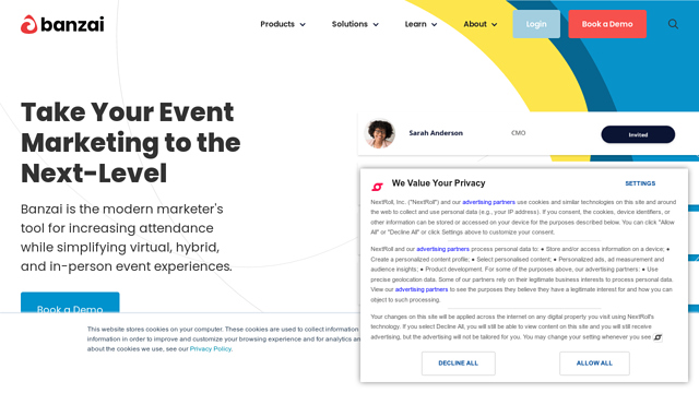 Banzai API koppeling