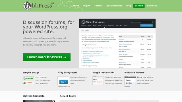 bbPress API koppeling
