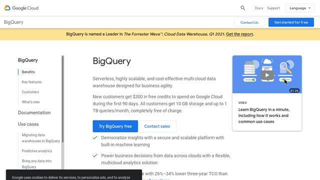 BigQuery API koppeling
