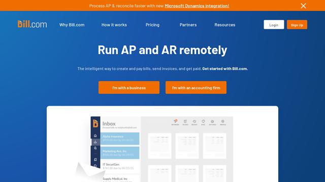 Bill.com API koppeling