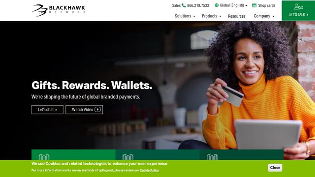 Blackhawk-Network API koppeling