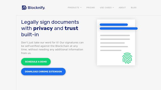 Blocknify API koppeling