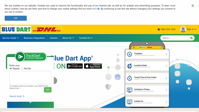 Blue-Dart API koppeling