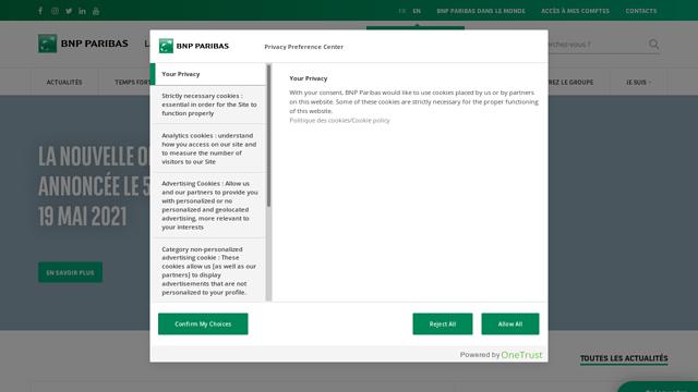 BNP-Paribas API koppeling
