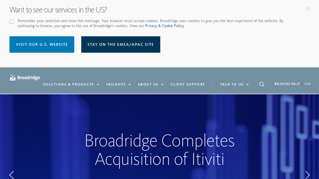 Broadridge API koppeling