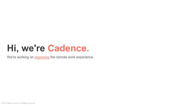 Cadence API koppeling