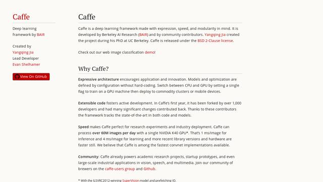 Caffe API koppeling
