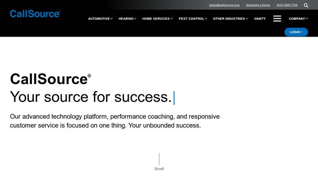 CallSource API koppeling
