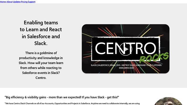 Centro API koppeling