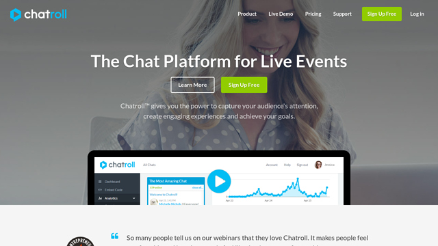 Chatroll API koppeling