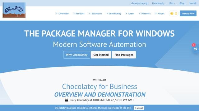 Chocolatey API koppeling