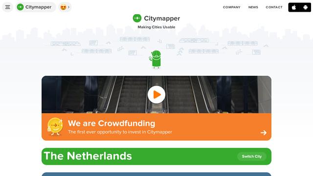 Citymapper API koppeling