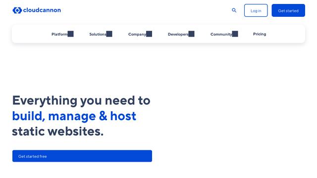 CloudCannon API koppeling