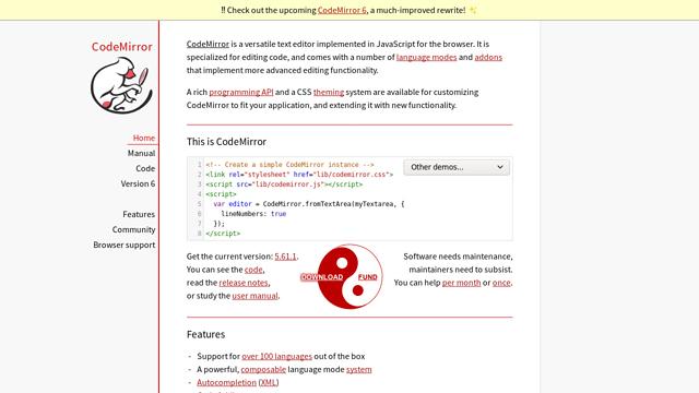 CodeMirror API koppeling