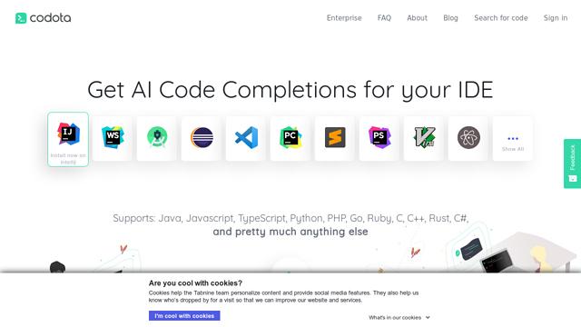 Codota API koppeling