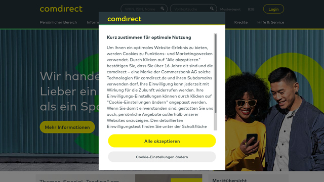 Comdirect API koppeling