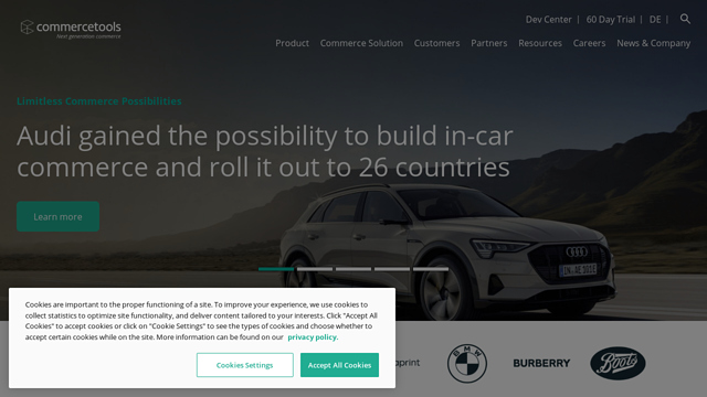 commercetools API koppeling