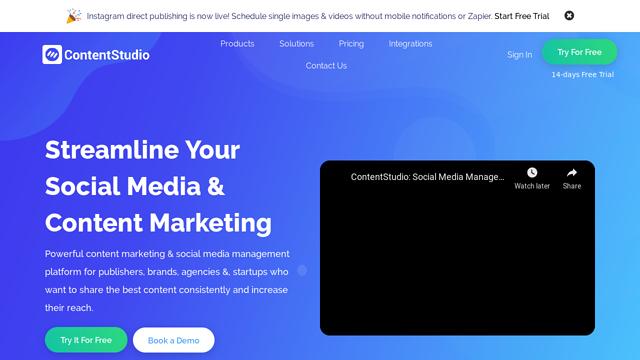 ContentStudio API koppeling