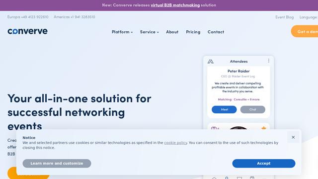 Converve API koppeling