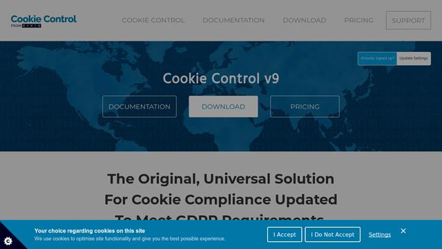 Cookie-Control API koppeling