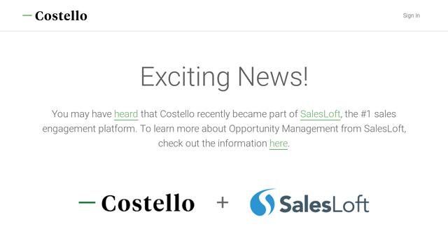 Costello API koppeling